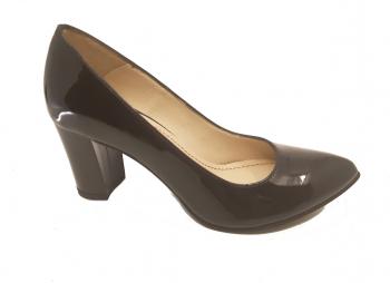Pantofi eleganti negri din lac-35
