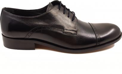 Pantofi eleganti negri din piele naturala-41