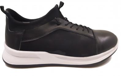 Pantofi sport barbati din material elastic si piele naturala-40