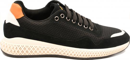 Pantofi sport negri barbati din material textil-39 EU