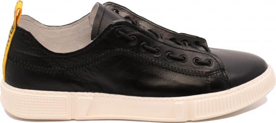 Pantofi sport negri barbati din piele naturala-39 EU
