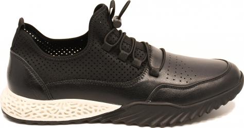 Pantofi sport negri barbati din piele naturala-44 EU