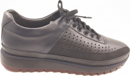 Pantofi sport negri din piele naturala-41