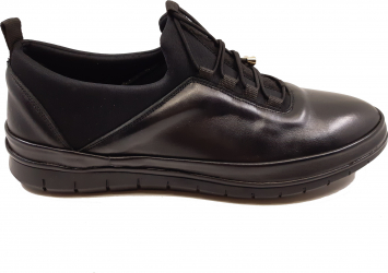Pantofi sport negri pentru barbati din piele naturala-41
