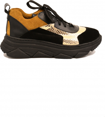 Pantofi sport Sandra negri din piele intoarsa-37 EU
