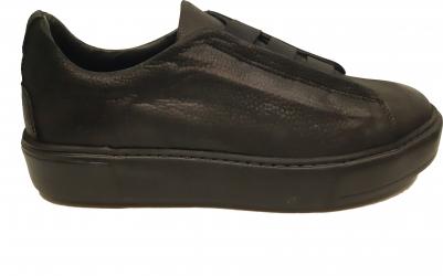 Pantofi sport slip-on negri din piele intoarsa-43