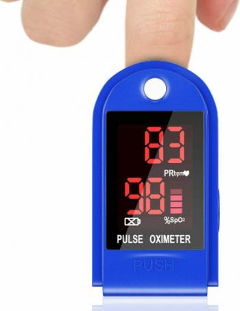 Pulsoximetru medical display LED indica nivelul de saturatie a oxigenului din singe si masoara pulsul Pulsoximetre