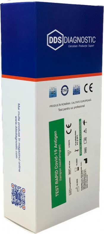 Kit 2 Teste Rapide Covid-19 Antigen tampon nazofaringian - Test rapid Covid 19 Teste rapide covid anticorpi antigen