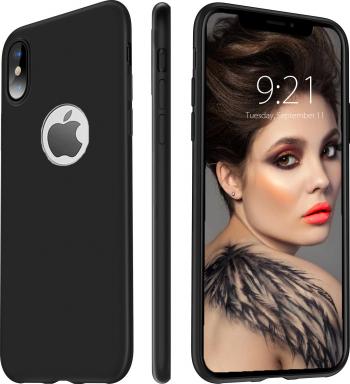 Husa telefon Apple Iphone 10 Iphone X ofera protectie Ultrasubtire Silk Black