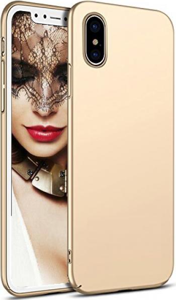 Husa telefon Apple Iphone 10 Iphone X ofera protectie Ultrasubtire Silk Gold