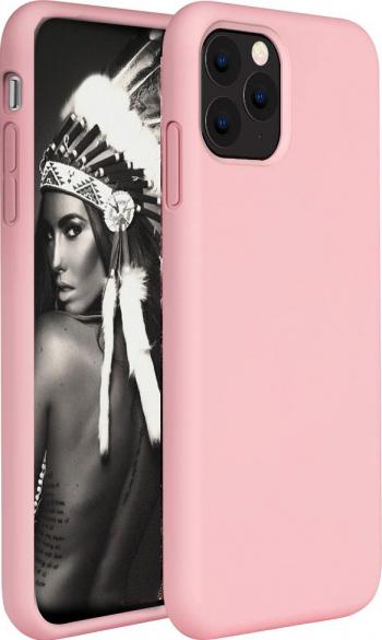 Husa telefon Apple Iphone 11 Pro MAX ofera protectie Lux Ultrasubtire Soft Silk Peach