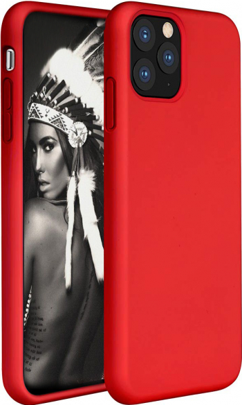 Husa telefon Apple Iphone 11 Pro MAX ofera protectie Lux Ultrasubtire Soft Silk Red