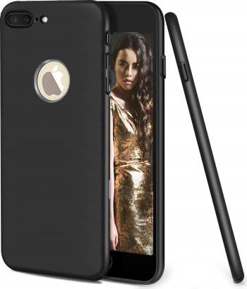 Husa telefon Apple Iphone 7 Plus ofera protectie Ultrasubtire Soft Silk Black
