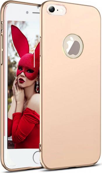 Husa telefon Apple Iphone 8 Plus ofera protectie Ultrasubtire Soft Silk Gold