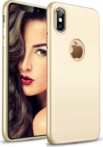 Husa telefon Apple Iphone XR ofera protectie Lux Ultrasubtire Soft Silk Gold