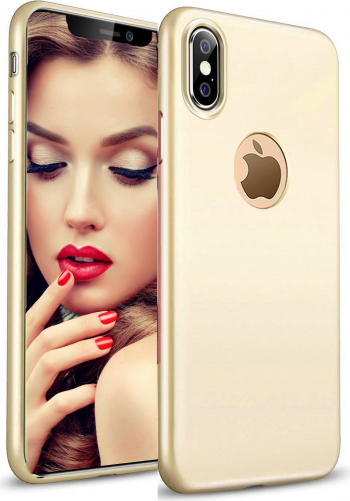 Husa telefon Apple Iphone XS MAX ofera protectie Lux Ultrasubtire Silk Soft Gold