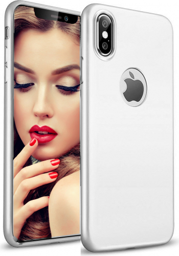 Husa telefon Apple Iphone XS MAX ofera protectie Lux Ultrasubtire Soft Silk Silver