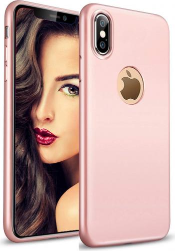 Husa telefon Apple Iphone XS ofera protectie Lux Ultrasubtire Silk Soft Rose
