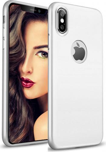 Husa telefon Apple Iphone XS ofera protectie Lux Ultrasubtire Silk Soft Silver