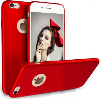 Husa telefon Iphone 6 / 6S Plus ofera protectie Ultrasubtire - Silk Red Matte