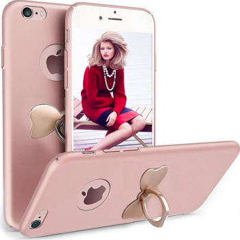 Husa telefon Iphone 7 ofera protectie 3in1 Ultrasubtire Silk Rose Bow Ring