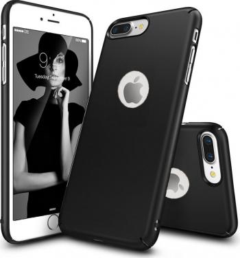Husa telefon Iphone 7 Plus ofera protectie Ultrasubtire - Silk Black Matte