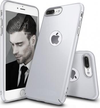 Husa telefon Iphone 7 Plus ofera protectie Ultrasubtire -Silk Silver Matte