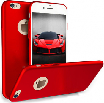 Husa telefon Iphone 8 ofera protectie Ultrasubtire - Silk Red Matte