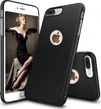 Husa telefon Iphone 8 Plus ofera protectie Ultrasubtire - Silk Black Matte