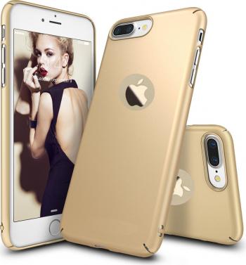 Husa telefon Iphone 7 Plus ofera protectie Ultrasubtire - Silk Gold Matte