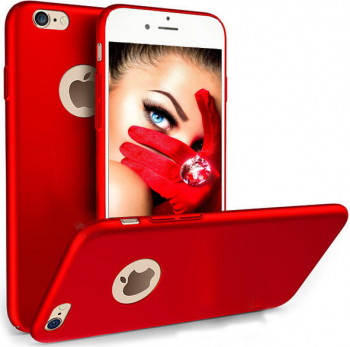 Husa telefon Iphone 8 Plus ofera protectie Ultrasubtire - Silk Red Matte