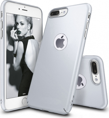 Husa telefon Iphone 8 Plus ofera protectie Ultrasubtire -Silk Silver Matte