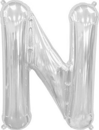Balon folie litera N argintiu 100 cm