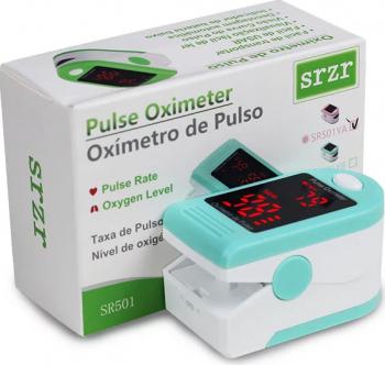 pret preturi Pulsoximetru / Oximetru Techone S05-SR501 conform cu directiva medicala CE93/42/EEC saturatie oxigen sange rata pulsului verde