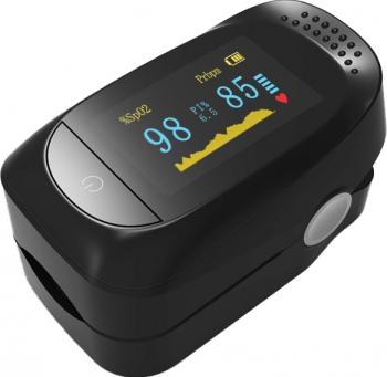 pret preturi Pulsoximetru medical pentru deget iMDK C101A2 indica nivelul de saturatie al oxigentului afisaj OLED Negru CP9994057NU