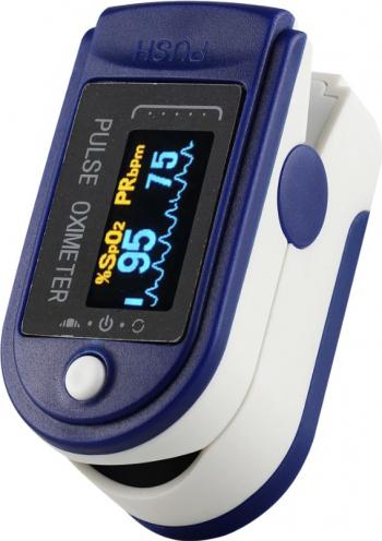Pulsoximetru profesional Yimi MED edition indica saturatie a oxigenului din sange si pulsul baterii Varta LongLife incluse in pachet