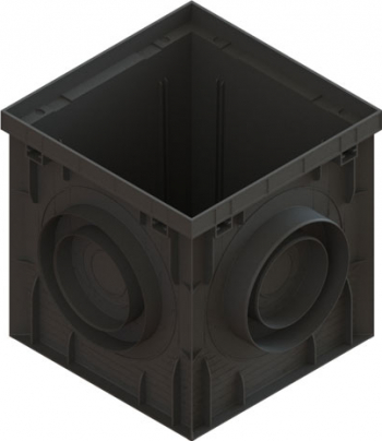 Camin PP BASIC Negru patrat A15-C250 300x300 8370-N