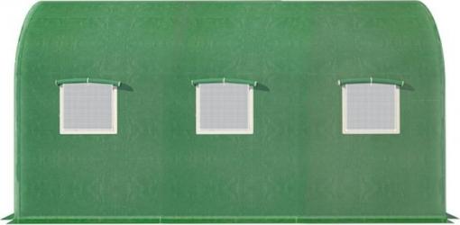 Folie protectie pentru solar de gradina 350x200x200cm cu 6 ferestre cu plase de tantari si o usa rulanta cu incuietoare Sere si Solarii