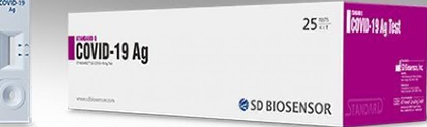 Test Covid Rapid Antigen 25 Bucati Cutie SD Biosensor Corea Teste rapide covid anticorpi antigen