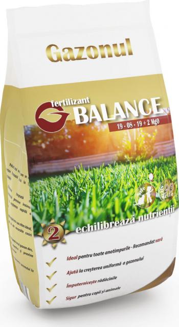 Ingrasamant Gazonul Balance NPK 19-8-19 2MgO 5kg Pamant flori si ingrasaminte