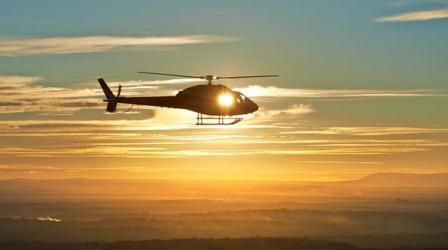 Chasing the sunset Zbor cu elicopterul din Constanta