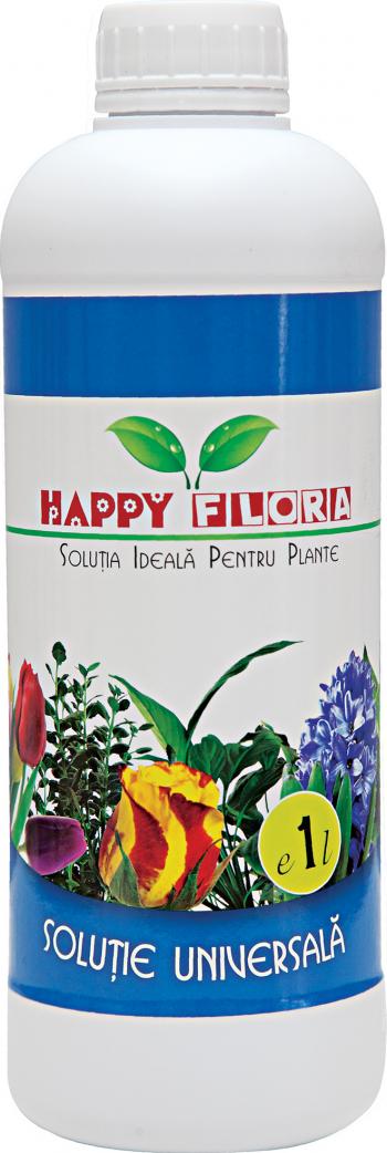 Ingrasamant universal pentru plante Happy Flora 1 l Pamant flori si ingrasaminte