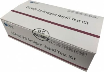 Pachet test rapid COVID-19 antigen Beier + Set 50 masti medicale DR.Mayer total color albastru Teste rapide covid anticorpi antigen