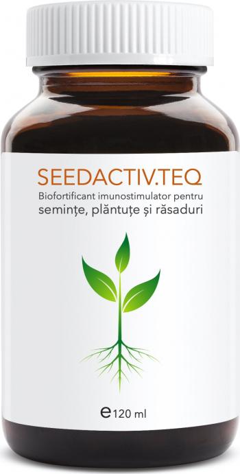Seedactiv teq 120 ml biofortificant imunostimulator pentru seminte plantute si rasaduri doza cu vol 120 ml Pamant flori si ingrasaminte