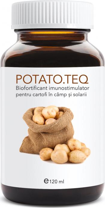 Potato teq 120 ml biofortificant imunostimulator pentru cartofi in camp si in spatii inchise Pamant flori si ingrasaminte