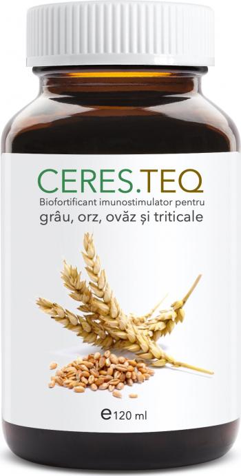 Ceres teq 120 ml biofortificant imunostimulator pentru grau orz ovaz si triticale Pamant flori si ingrasaminte