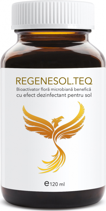 Regenesol teq 120 ml bioactivator flora microbiana benefica cu efect dezinfectant pentru sol Pamant flori si ingrasaminte