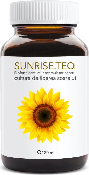 Sunrise teq 120 ml biofortificant imunostimulator pentru cultura de floarea soarelui Pamant flori si ingrasaminte