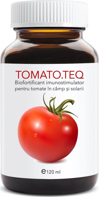 Tomato teq 120 ml biofortificant imunostimulator pentru tomate in camp si solarii Pamant flori si ingrasaminte