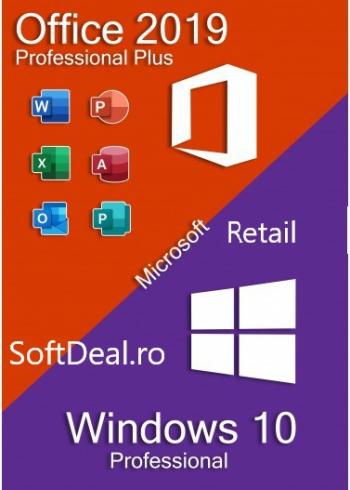 Office 2019 Pro Plus + Windows 10 Pro All languages persoane fizice si juridice Aplicatii desktop